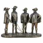 Bronze Three Musketeers All For One and One For All Sculpture