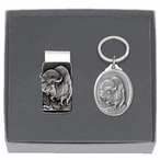 Buffalo Money Clip & Key Chain Gift Set with Pewter Accents