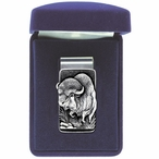 Buffalo Steel Money Clip with Pewter Accent