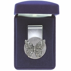 Butterfly Steel Money Clip with Pewter Accent