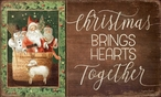 Christmas Brings Hearts Together Wood Sign