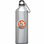Clemson Tigers Orange Pewter Accent Stainless Steel Water Bottle