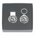 Clemson Tigers Pewter Accent Money Clip & Key Chain Gift Set