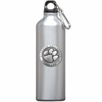 Clemson University Tigers Pewter Accent Stainless Steel Water Bottle