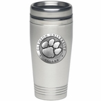 Clemson University Tigers Stainless Steel Travel Mug w/ Pewter Accent
