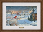 Country Afternoon Cardinal Birds Limited Edition Framed Art Print