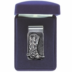 Cowboy Boot Steel Money Clip with Pewter Accent