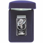 Cowboy Hat Steel Money Clip with Pewter Accent