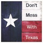 Don't Mess with Texas Ceramic Trivets, Set of 2