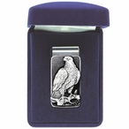 Eagle Bird Steel Money Clip with Pewter Accent