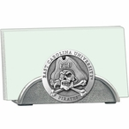 East Carolina Pirates Metal Business Card Holder with Pewter Accent