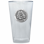 East Carolina Pirates Pewter Accent Pint Beer Glasses, Set of 2