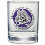 East Carolina Pirates Purple Pewter Accent DOF Glasses, Set of 2