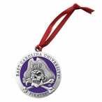 East Carolina Pirates Purple Pewter Accent Ornaments, Set of 2
