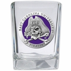 East Carolina Pirates Purple Pewter Accent Shot Glasses, Set of 4