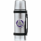 East Carolina Pirates Purple Pewter Accent Stainless Steel Thermos