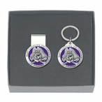 East Carolina Pirates Purple Pewter Money Clip & Key Chain Gift Set