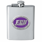 East Carolina Pirates Purple Stainless Steel Flask with Pewter Accent