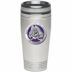 East Carolina Pirates Purple Stainless Steel Travel Mug with Pewter
