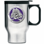 East Carolina Pirates Purple Travel Mug with Handle & Pewter Accent