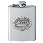 East Carolina Pirates Stainless Steel Flask with Pewter Accent