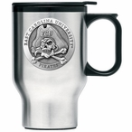 East Carolina Pirates Stainless Steel Travel Mug with Handle & Pewter