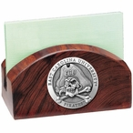 East Carolina Pirates Wood Business Card Holder with Pewter Accent