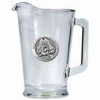 East Carolina University Pirates Glass Pitcher with Pewter Accent