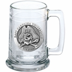 East Carolina University Pirates Pewter Accent Glass Beer Mug