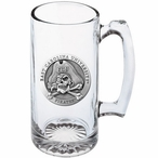 East Carolina University Pirates Pewter Accent Glass Super Beer Mug
