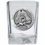 East Carolina University Pirates Pewter Accent Shot Glasses, Set of 4