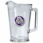 East Carolina University Pirates Purple Glass Pitcher w/ Pewter Accent