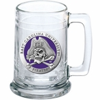East Carolina University Pirates Purple Pewter Accent Glass Beer Mug