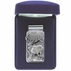 Elk Steel Money Clip with Pewter Accent