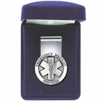 Emergency Medical Services Steel Money Clip with Pewter Accent