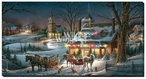 Evening Rehearsals Holiday Season LED Lighted Wrapped Canvas Art Print