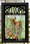 Fawn Stained Glass Welcome Wall Art