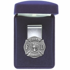 Firefighter Steel Money Clip with Pewter Accent