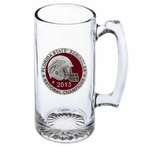 Florida State 2013 Nat Champs Red Pewter Accent Glass Super Beer Mug