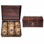 Florida State 2013 Nat Champs Red Pewter Capitol Decanter Chest Set