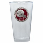 Florida State 2013 Nat Champs Red Pewter Pint Beer Glasses, Set of 2