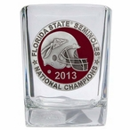 Florida State Red 2013 Nat Champs Pewter Accent Shot Glasses, Set of 4
