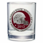 Florida State Red 2013 National Champs Pewter DOF Glasses, Set of 2