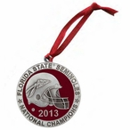Florida State Seminoles 2013 Nat Champs Red Pewter Ornaments, Set of 2