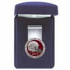 Florida State Seminoles 2013 Nat Champs Red Pewter Steel Money Clip