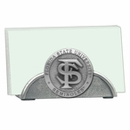 Florida State Seminoles Metal Business Card Holder with Pewter Accent