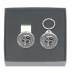 Florida State Seminoles Pewter Accent Money Clip & Key Chain Gift Set