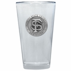 Florida State Seminoles Pewter Accent Pint Beer Glasses, Set of 2