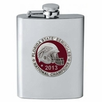 Florida State Seminoles Red 2013 Nat Champs Flask with Pewter Accent