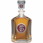Florida State Seminoles Red Capitol Glass Decanter with Pewter Accents